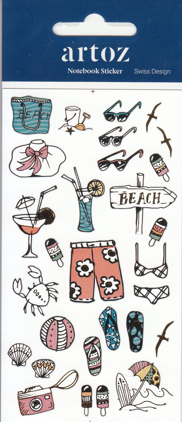 Summer Holiday Notebook Journal StickersSelf AdhesiveLaser Cut Stickers