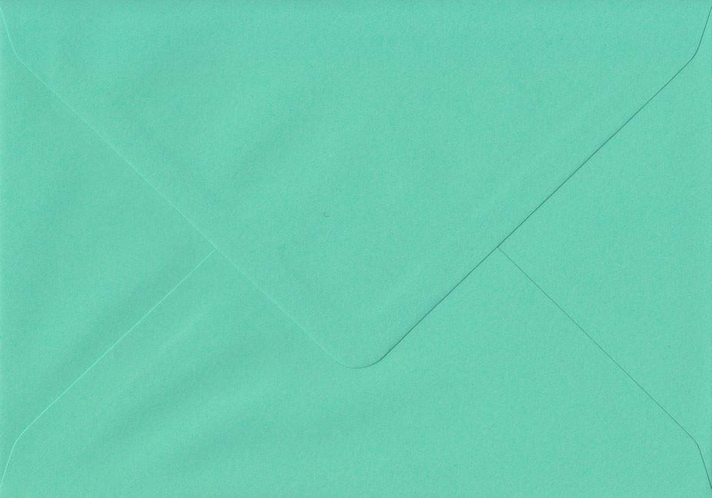 Teal Green 155mm x 155mm Gummed 135gsm Luxury Square Coloured Green Envelopes