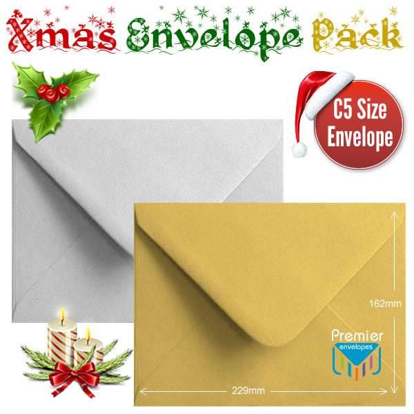100 Metallic Colour Envelopes Multi Coloured C6 Gummed Metallic Envelopes.