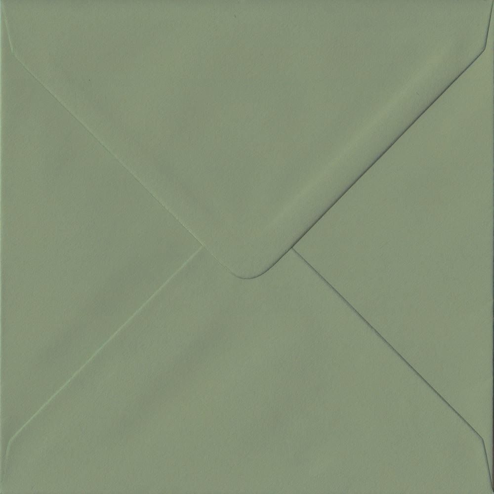 Verde Teal 155 Mm x 155 mm engomado 135gsm de Lujo de Color Verde sobres cuadrados