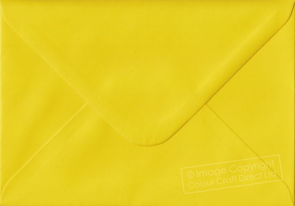 25 x C6 Golden Yellow 100gsm Envelopes 114 x 162mm 4.49 x 6.38 inches