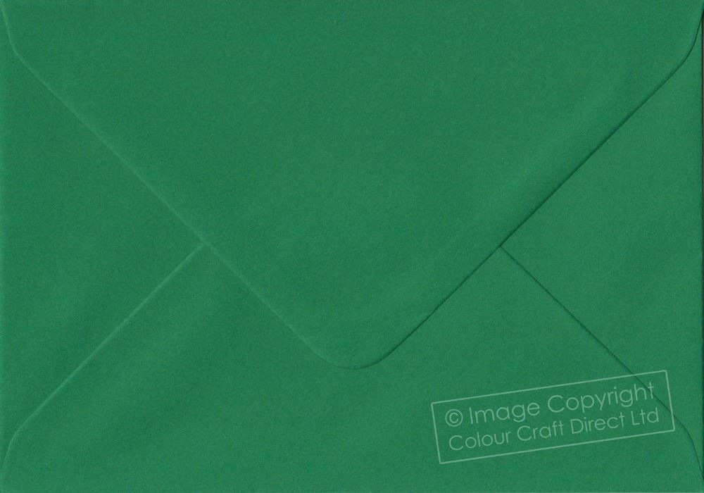 Teal Green 133mm x 184mm Gummed 135gsm Luxury 5x7 Inch Coloured Green Envelopes