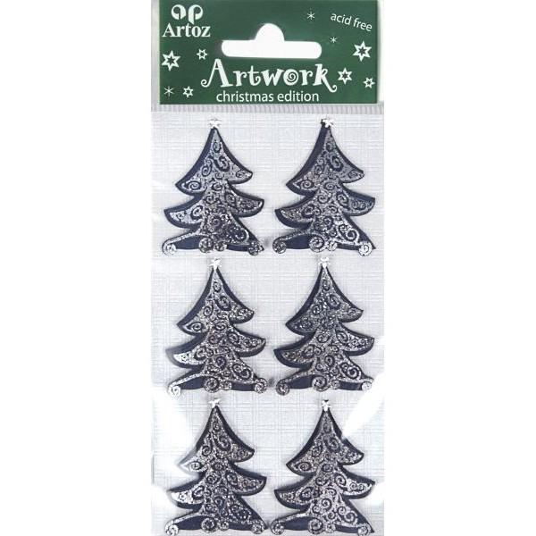 Blue christmas tree craft christmas and festive card for Christmas card christmas tree craft