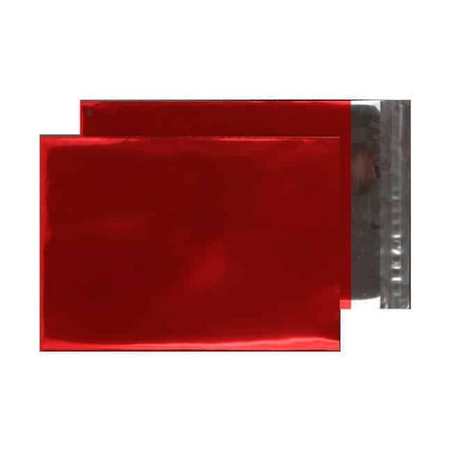 Metallic Red 70 micron 324mm x 229mm Shiny Foil Envelopes (Box Of 250)