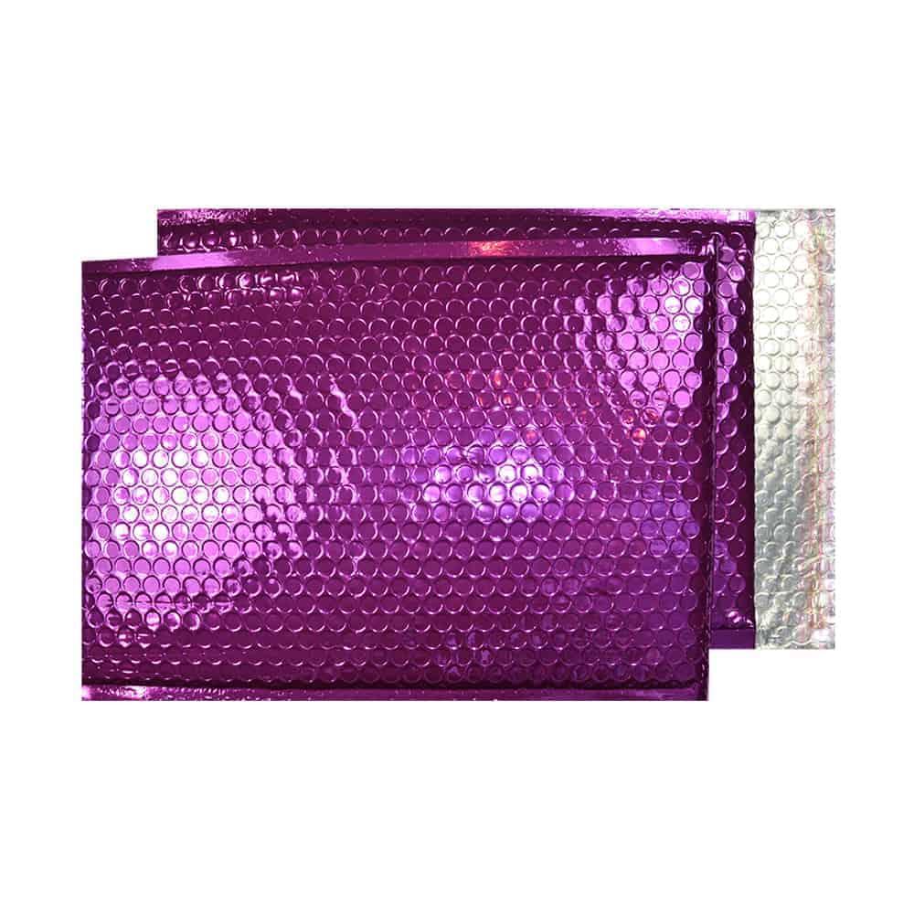 Purple Grape Gloss 250mm x 180mm Bubble Lined Envelopes (Box Of 100)