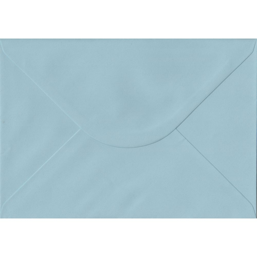100 A5 Blue Envelopes. Baby Blue. 162mm x 229mm. 100gsm paper. Gummed Flap.