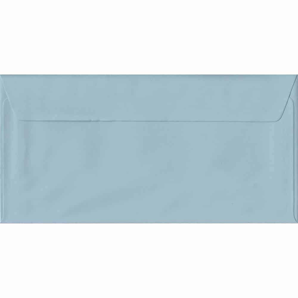 100 DL Blue Envelopes. Baby Blue. 110mm x 220mm. 100gsm paper. Peel/Seal Flap.