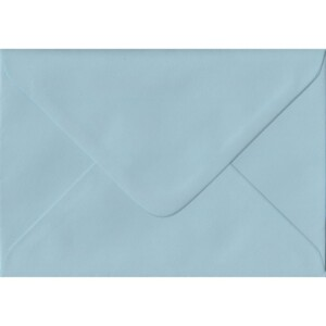 100 A6 Blue Envelopes. Baby Blue. 114mm x 162mm. 100gsm paper. Gummed Flap.
