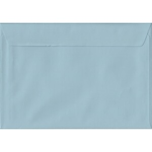 100 A5 Blue Envelopes. Baby Blue. 162mm x 229mm. 100gsm paper. Peel/Seal Flap.