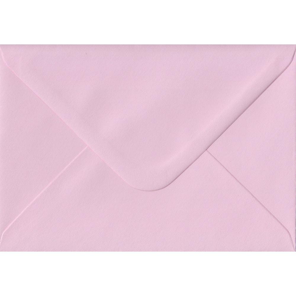 100 A6 Pink Envelopes. Baby Pink. 114mm x 162mm. 100gsm paper. Gummed Flap.