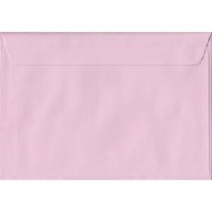 100 A5 Pink Envelopes. Baby Pink. 162mm x 229mm. 100gsm paper. Peel/Seal Flap.