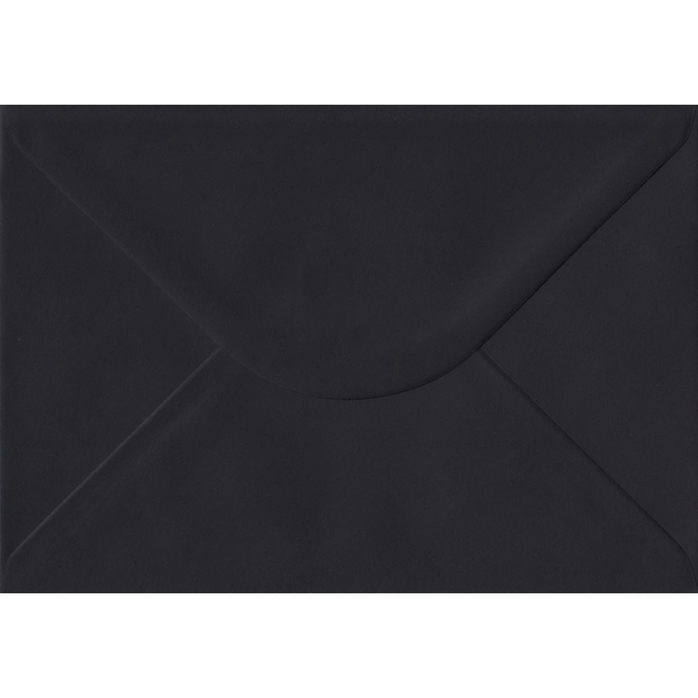 100 A5 Black Envelopes. Black. 162mm x 229mm. 100gsm paper. Gummed Flap.