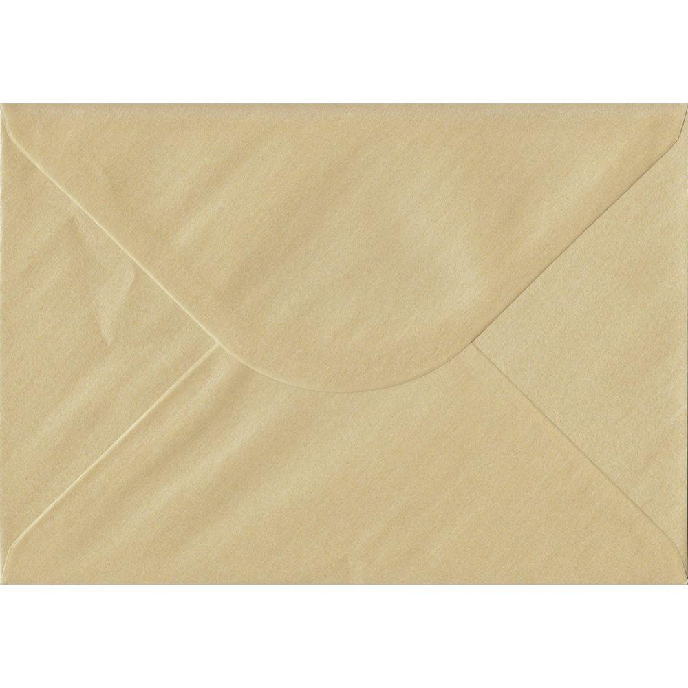 100 A5 Champagne Envelopes. Pearl Champagne. 162mm x 229mm. 100gsm paper. Gummed Flap.