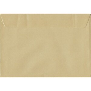 Champagne Envelopes. Pearl Champagne. 162mm x 229mm. 100gsm paper. Peel/Seal Flap.