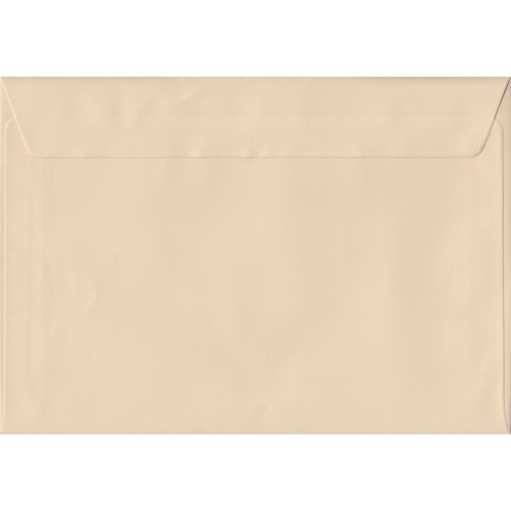 100 A5 Cream Envelopes. Cream. 162mm x 229mm. 100gsm paper. Peel/Seal Flap.