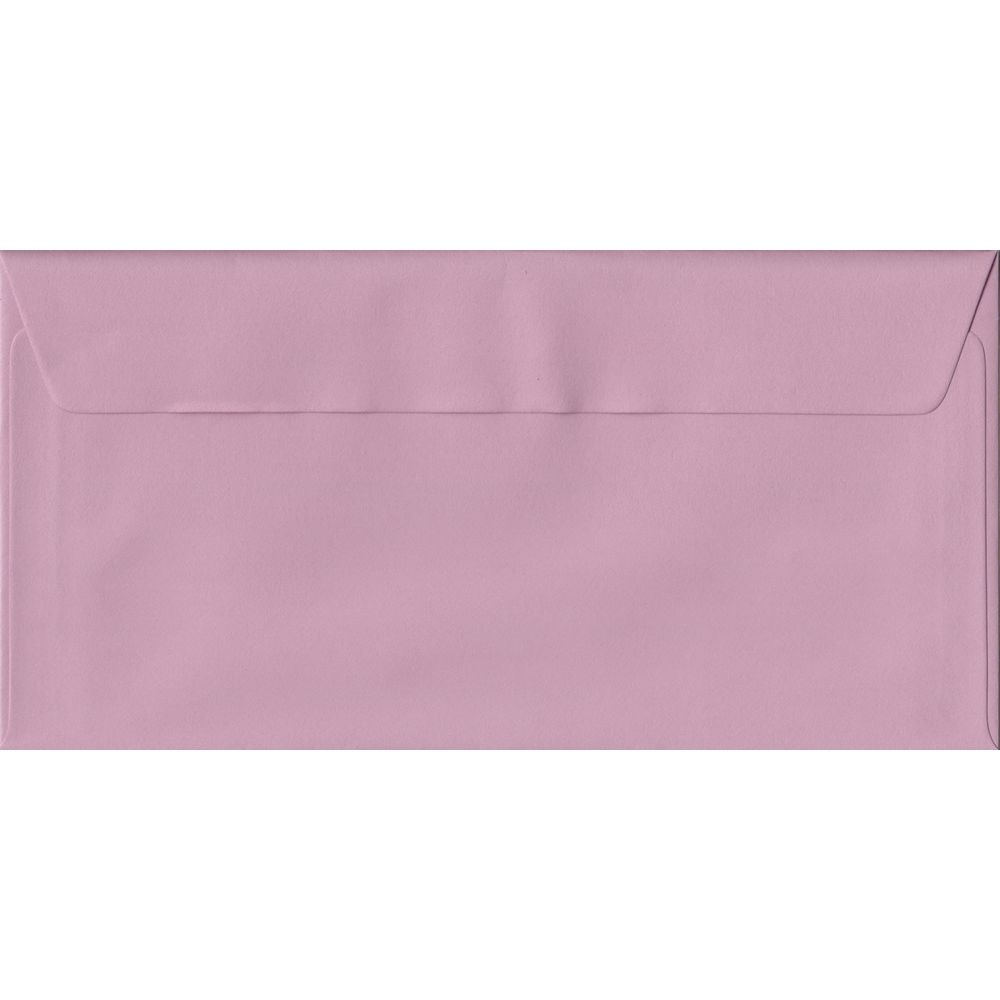 100 Dl Pink Envelopes Dusky 110mm X 220mm 100gsm Paper L