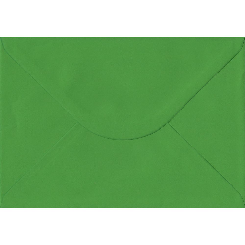 100 A5 Green Envelopes. Fern Green. 162mm x 229mm. 100gsm paper. Gummed Flap.
