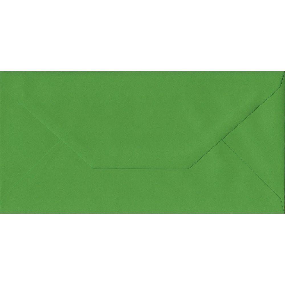 100 DL Green Envelopes. Fern Green. 110mm x 220mm. 100gsm paper. Gummed Flap.