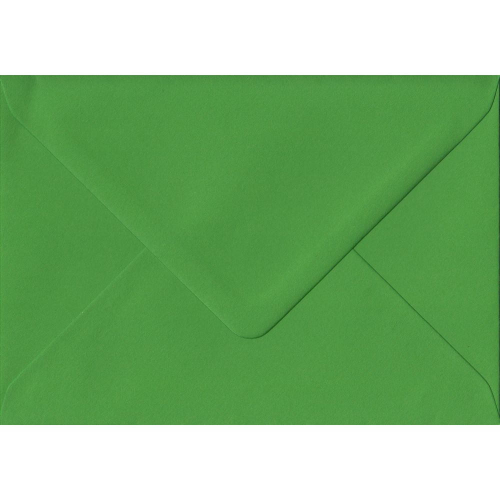 100 A6 Green Envelopes. Fern Green. 114mm x 162mm. 100gsm paper. Gummed Flap.