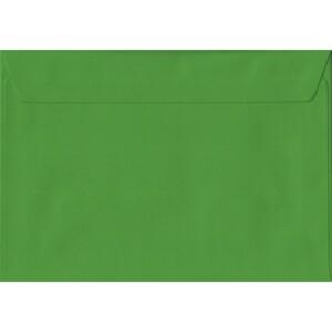 100 A5 Green Envelopes. Fern Green. 162mm x 229mm. 100gsm paper. Peel/Seal Flap.