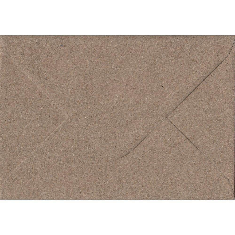 100 A5 Kraft Envelopes. Recycled Fleck. 162mm x 229mm. 100gsm paper. Gummed Flap.