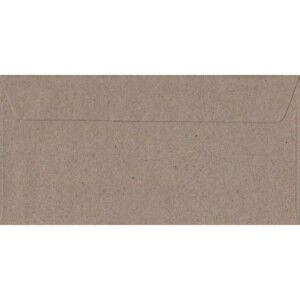 100 DL Kraft Envelopes. Recycled Fleck. 110mm x 220mm. 100gsm paper. Peel/Seal Flap.