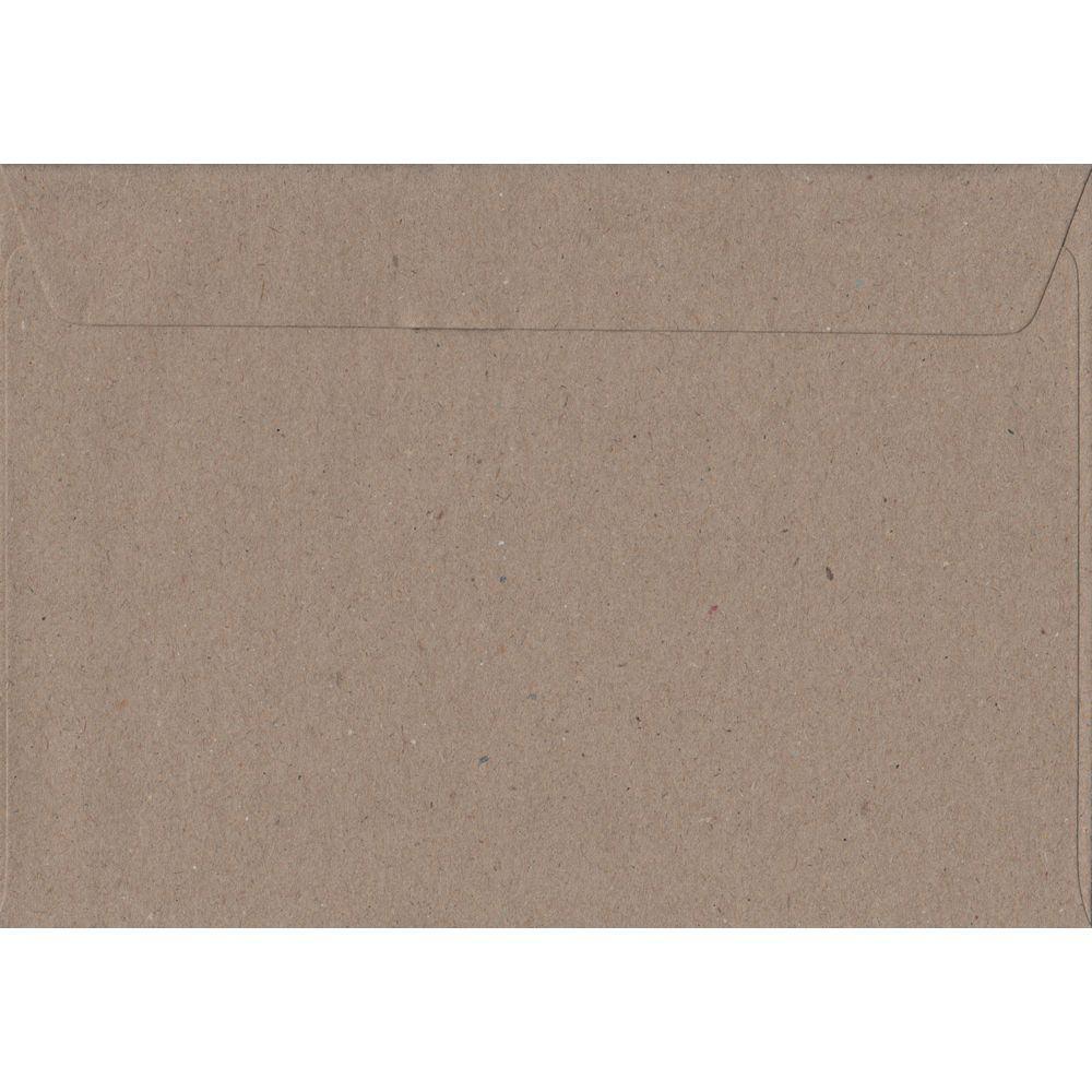100 A5 Kraft Envelopes. Recycled Fleck. 162mm x 229mm. 100gsm paper. Peel/Seal Flap.