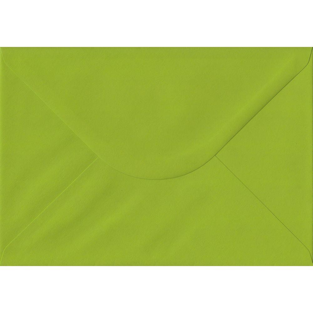 100 A5 Green Envelopes. Fresh Green. 162mm x 229mm. 100gsm paper. Gummed Flap.