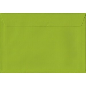 100 A5 Green Envelopes. Fresh Green. 162mm x 229mm. 100gsm paper. Peel/Seal Flap.