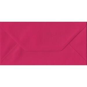 100 DL Pink Envelopes. Fuchsia Pink. 110mm x 220mm. 100gsm paper. Gummed Flap.