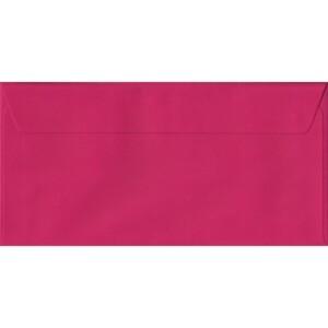 100 DL Pink Envelopes. Fuchsia Pink. 110mm x 220mm. 100gsm paper. Peel/Seal Flap.