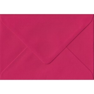 100 A6 Pink Envelopes. Fuchsia Pink. 114mm x 162mm. 100gsm paper. Gummed Flap.
