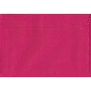 100 A5 Pink Envelopes. Fuchsia Pink. 162mm x 229mm. 100gsm paper. Peel/Seal Flap.