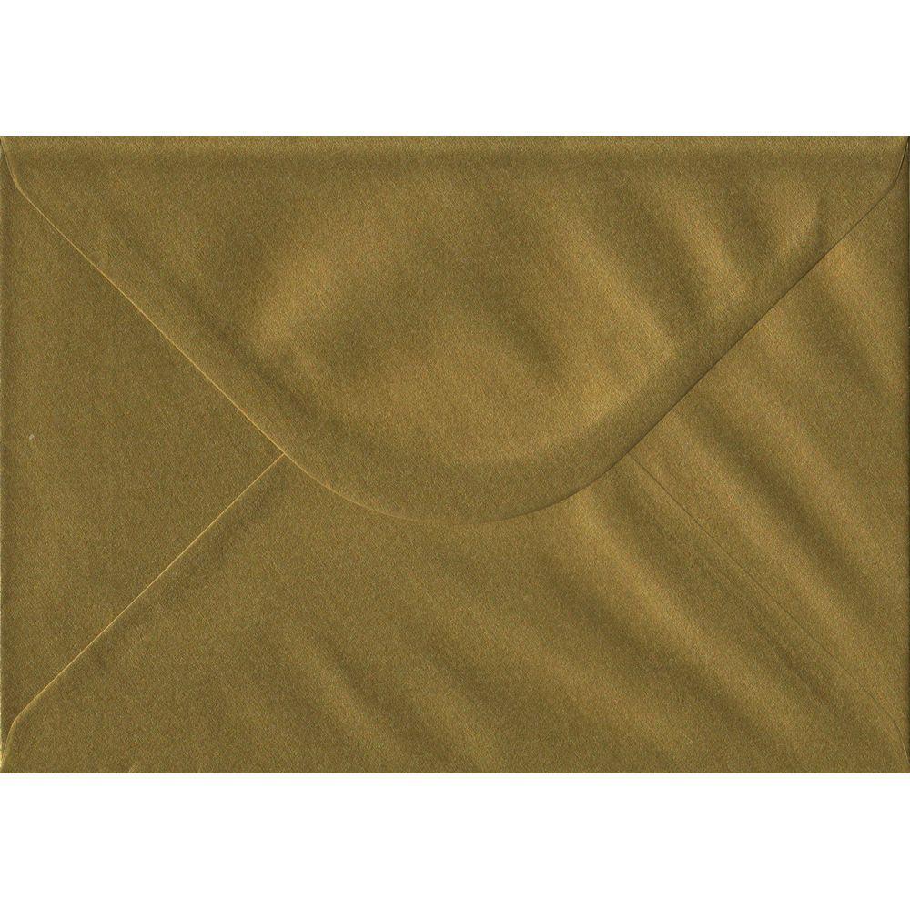 100 A5 Gold Envelopes. Metallic Gold. 162mm x 229mm. 100gsm paper. Gummed Flap.