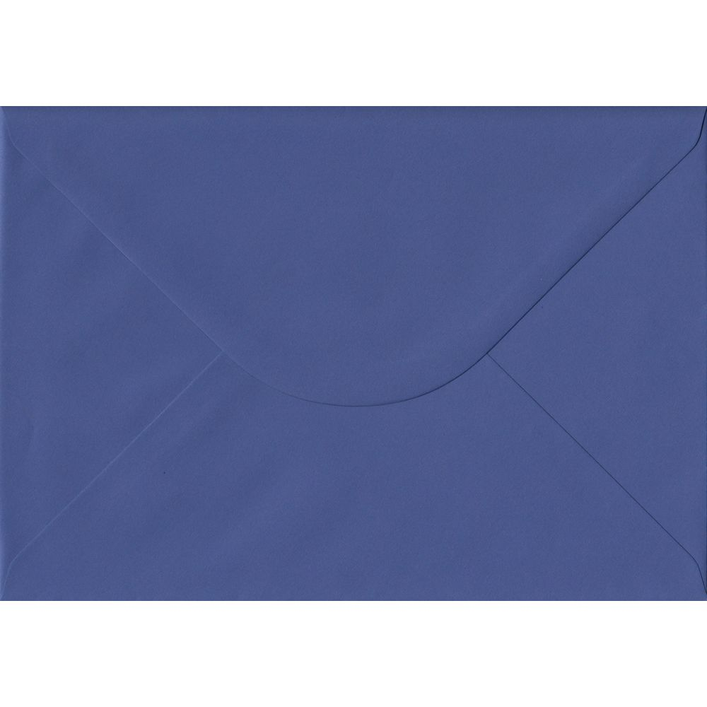 100 A5 Blue Envelopes. Iris Blue. 162mm x 229mm. 100gsm paper. Gummed Flap.