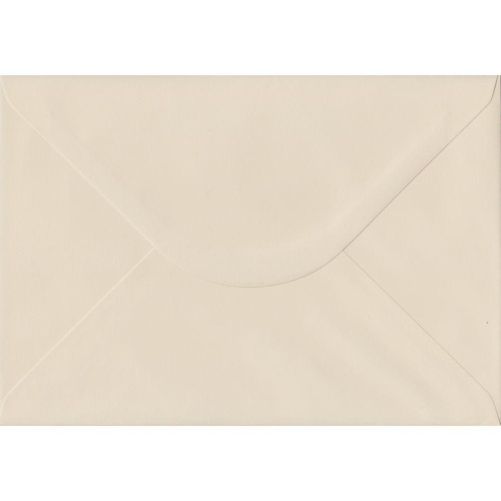 100 A5 Cream Envelopes. Ivory. 162mm x 229mm. 100gsm paper. Gummed Flap.