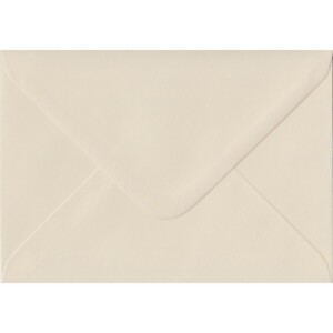100 A6 Cream Envelopes. Ivory. 114mm x 162mm. 100gsm paper. Gummed Flap.