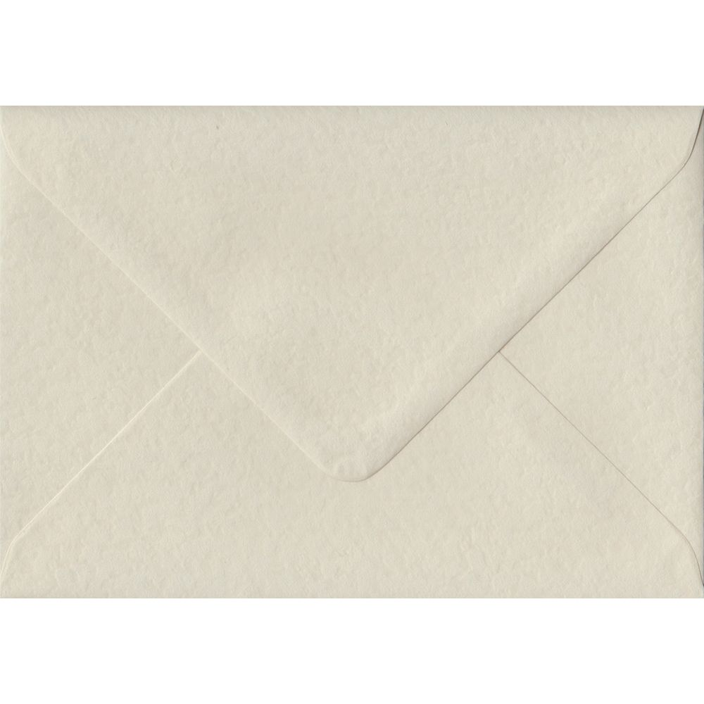 100 A6 Cream Envelopes. Ivory Hammer. 114mm x 162mm. 100gsm paper. Gummed Flap.