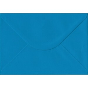 100 A5 Blue Envelopes. Kingfisher Blue. 162mm x 229mm. 100gsm paper. Gummed Flap.