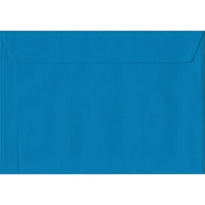 100 A5 Blue Envelopes. Kingfisher Blue. 162mm x 229mm. 100gsm paper. Peel/Seal Flap.