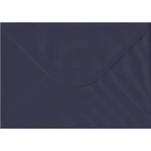 100 A5 Blue Envelopes. Navy Blue. 162mm x 229mm. 100gsm paper. Gummed Flap.