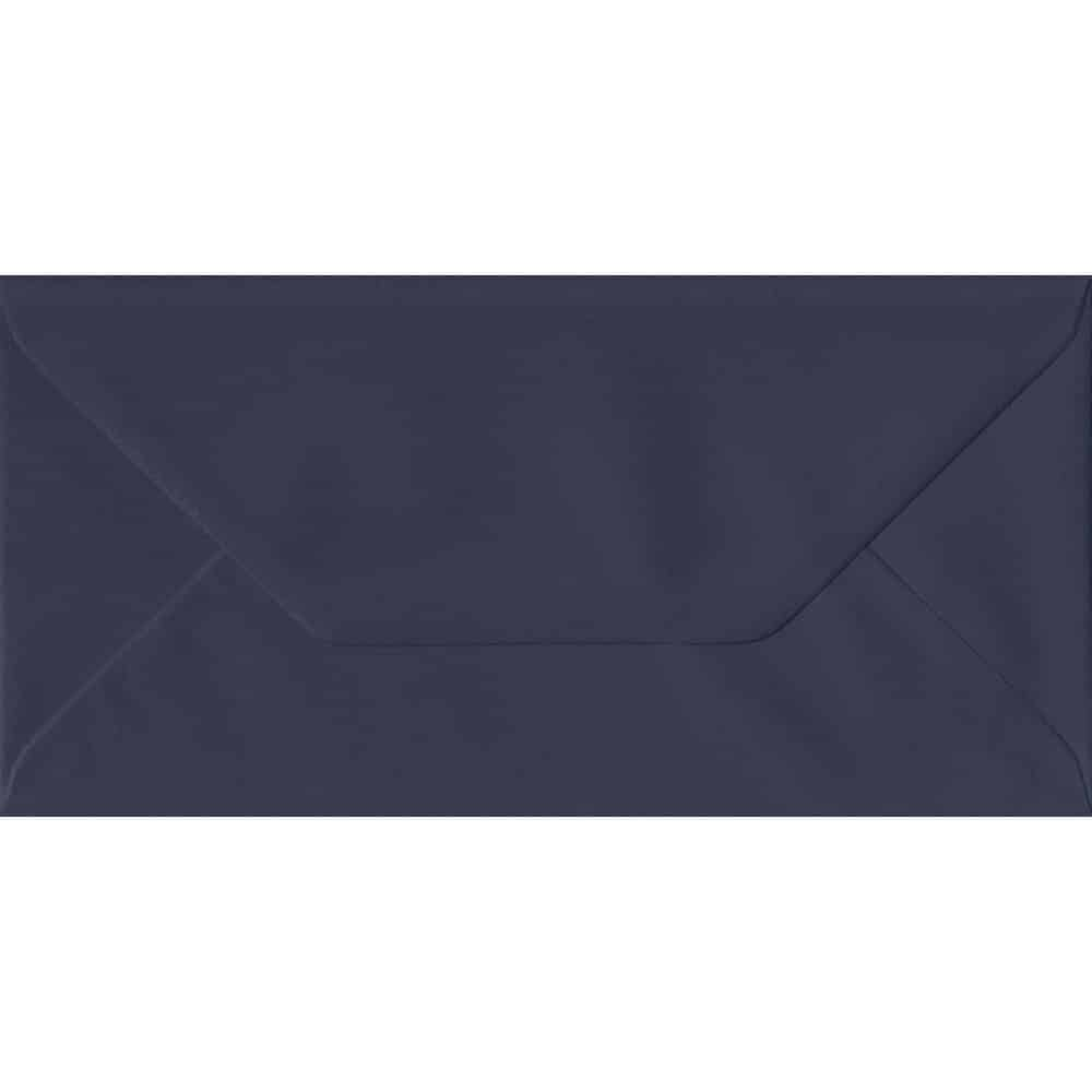 100 DL Blue Envelopes. Navy Blue. 110mm x 220mm. 100gsm paper. Gummed Flap.
