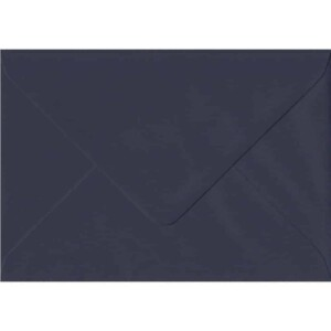 100 A6 Blue Envelopes. Navy Blue. 114mm x 162mm. 100gsm paper. Gummed Flap.