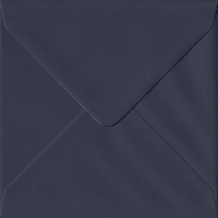 100 Square Blue Envelopes. Navy Blue. 155mm x 155mm. 100gsm paper. Gummed Flap.