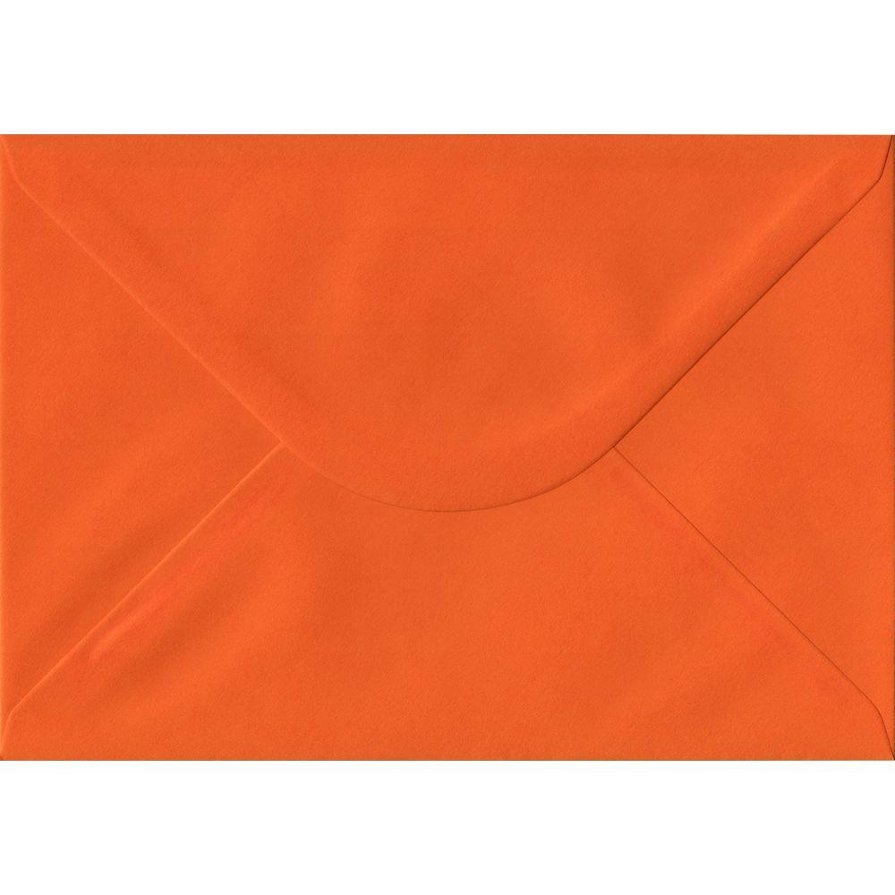 100 A5 Orange Envelopes. Orange. 162mm x 229mm. 100gsm paper. Gummed Flap.