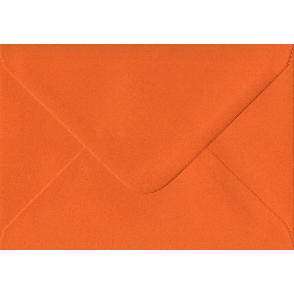 100 A6 Orange Envelopes. Orange. 114mm x 162mm. 100gsm paper. Gummed Flap.