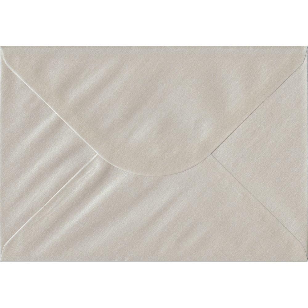 100 A5 Pearlescent Oyster Envelopes. 162mm x 229mm. 100gsm paper. Gummed Flap.