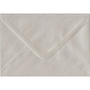 100 A6 Pearlescent Oyster Envelopes. 114mm x 162mm. 100gsm paper. Gummed Flap.