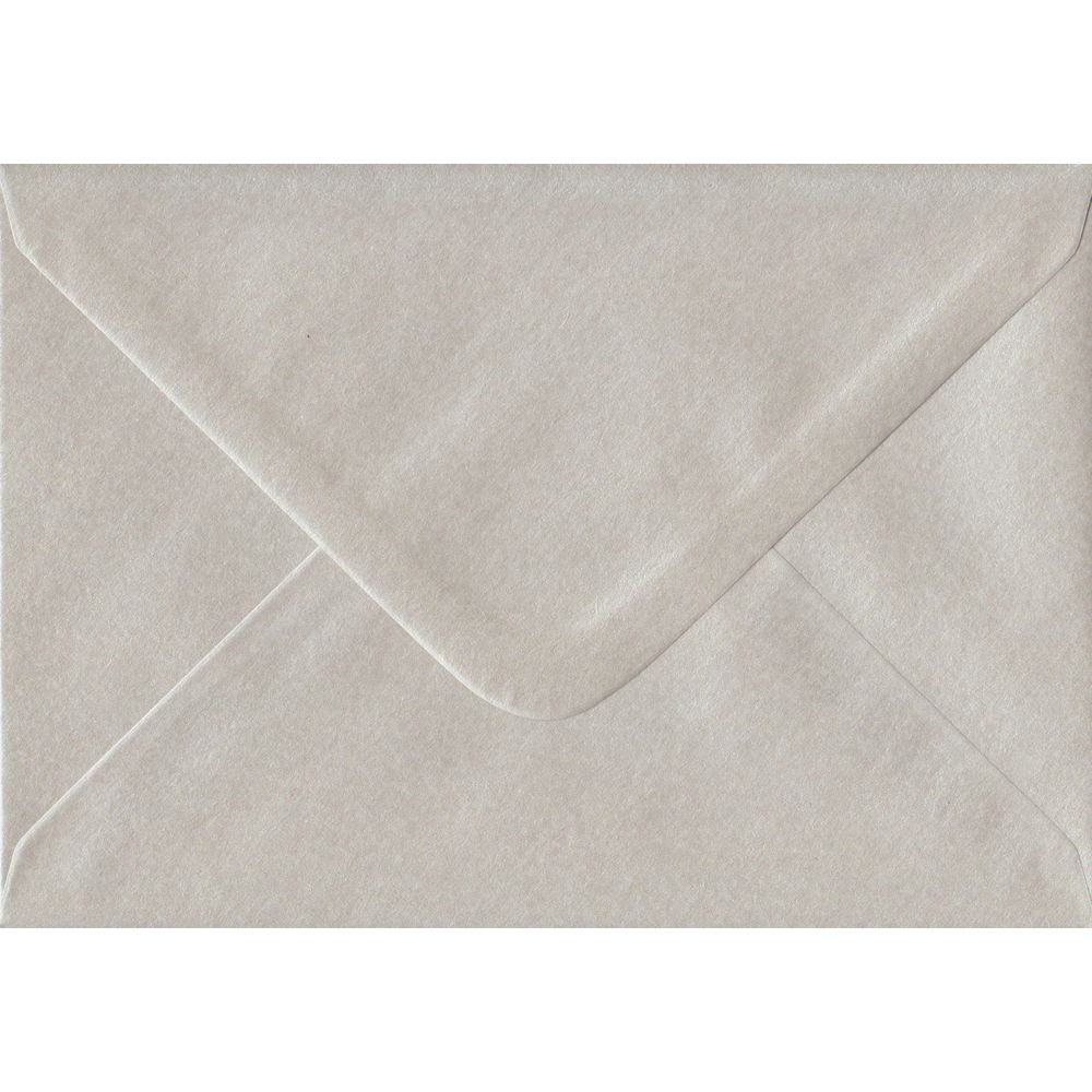 100 A6 Pearlescent Oyster Envelopes. 114mm x 162mm. 100gsm paper. Gummed Flap.