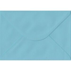 100 A5 Blue Envelopes. Blue. 162mm x 229mm. 100gsm paper. Gummed Flap.